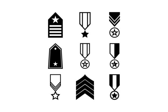 Download Free Military Rank Army Insignia Icon Set Graphic By Hoeda80 SVG Cut Files