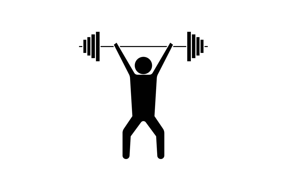 Download Free Military Press Gym Fitness Black Icon Graphic By Hoeda80 Creative Fabrica for Cricut Explore, Silhouette and other cutting machines.
