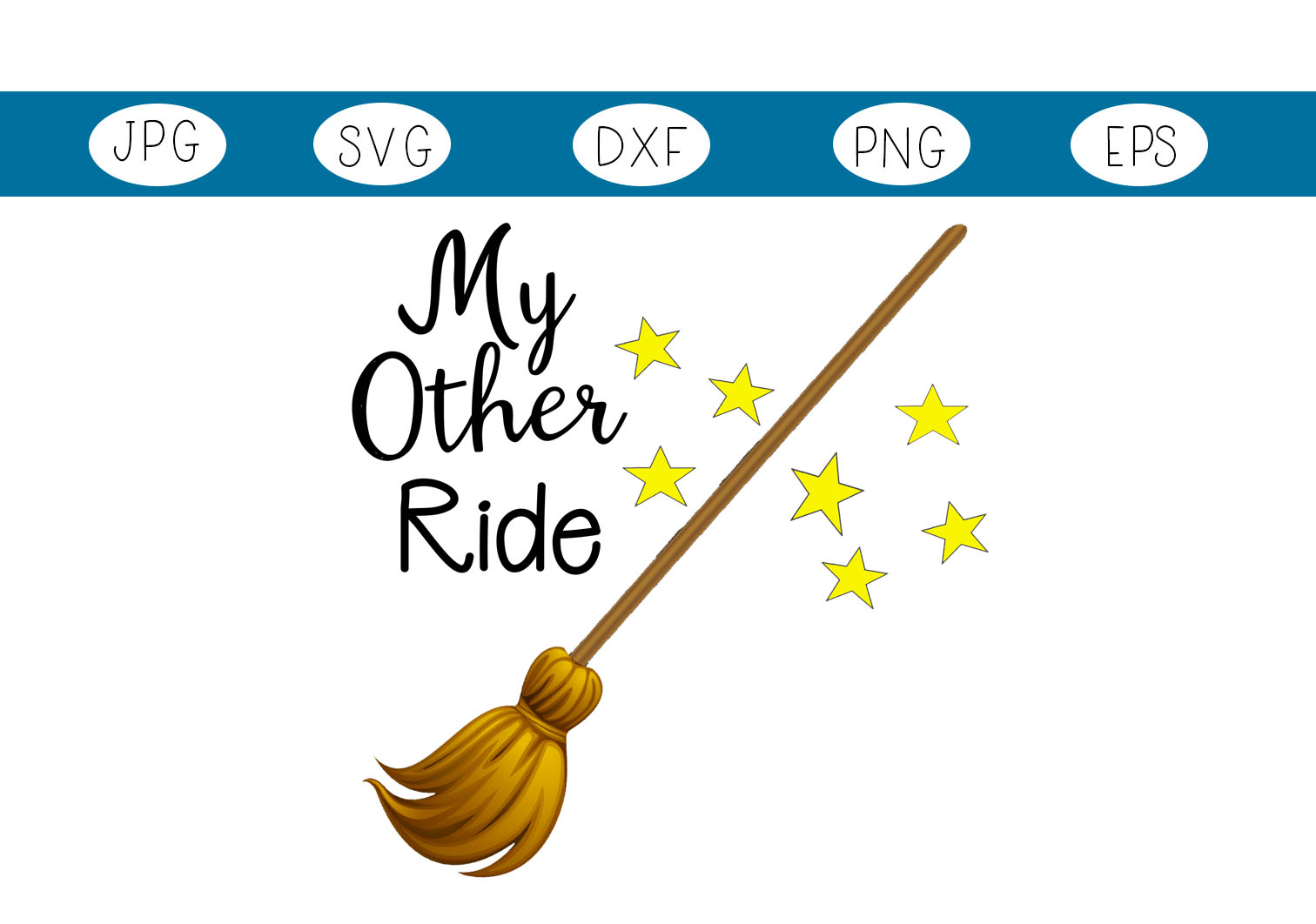 Download Free My Other Ride Halloween Witches Broom Graphic By Capeairforce for Cricut Explore, Silhouette and other cutting machines.