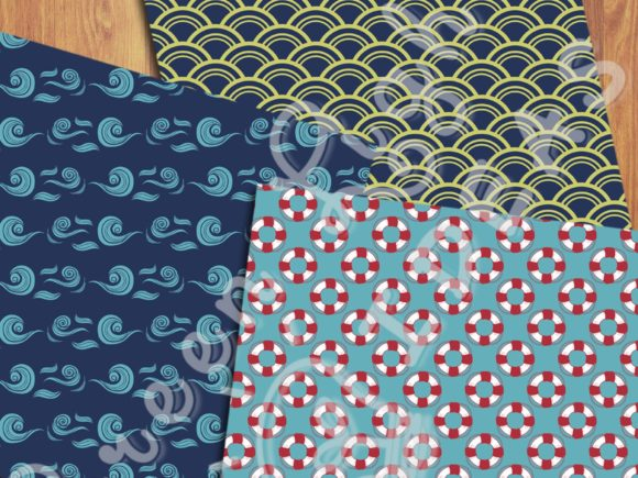 Nautical Sea Backgrounds Beach Papers Graphic Backgrounds By GreenLightIdeas - Image 4