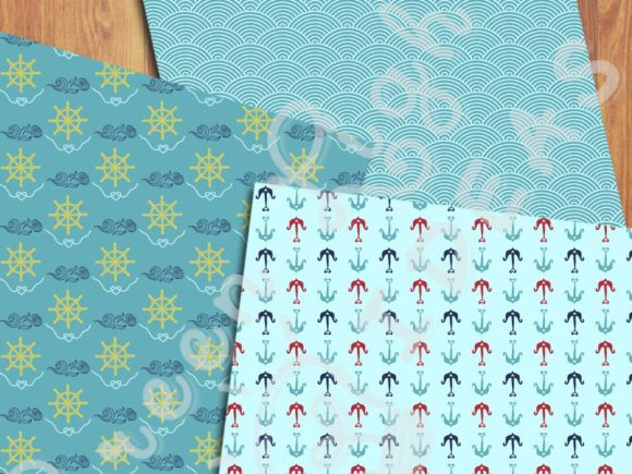 Nautical Sea Backgrounds Beach Papers Graphic Backgrounds By GreenLightIdeas - Image 5