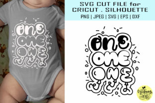 Download Free One 1st Birthday Graphic By Midmagart Creative Fabrica for Cricut Explore, Silhouette and other cutting machines.