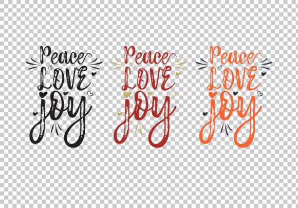 Peace Love Joy Graphic Print Templates By Skull and Rose - Image 3