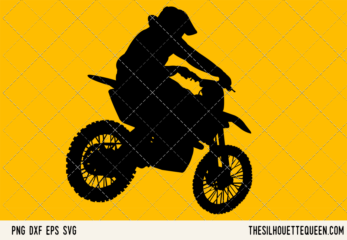 Download Free Pitbiking Graphic By Thesilhouettequeenshop Creative Fabrica for Cricut Explore, Silhouette and other cutting machines.