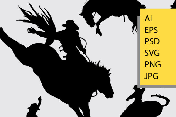 Rodeo Sport Silhouette Graphic Illustrations By Cove703 - Image 2
