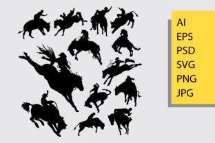 Rodeo Sport Silhouette Graphic By Cove703