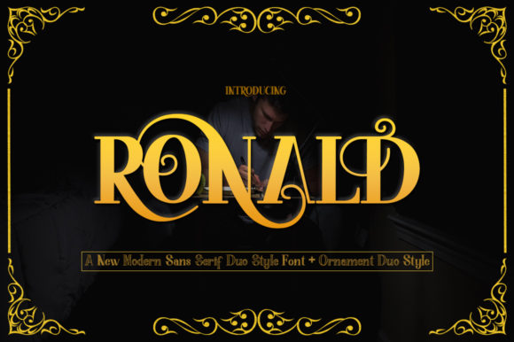 Print on Demand: Ronald Family Display Font By faisal_Alfaraby