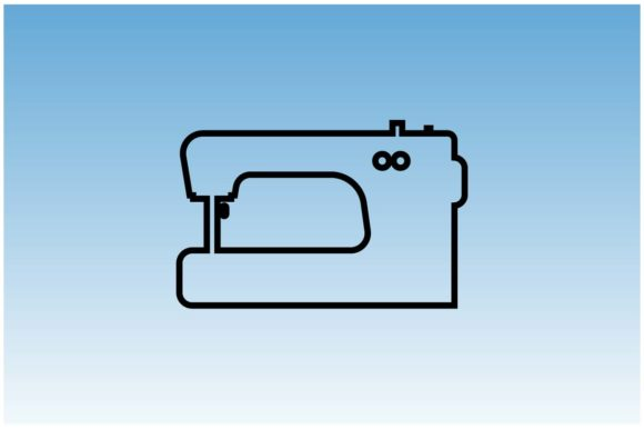 Download Free Sewing Machine Icon In Line Style Graphic By Hoeda80 Creative Fabrica for Cricut Explore, Silhouette and other cutting machines.