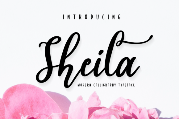Print on Demand: Sheila Script Manuscrita Fuente Por fanastudio