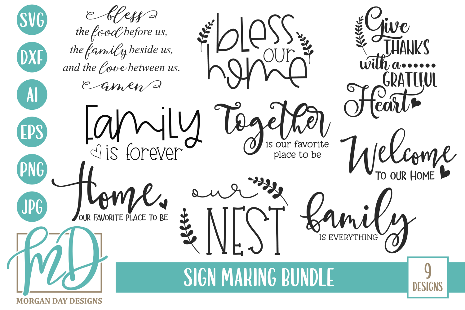 Download Free Sign Making Bundle Graphic By Morgan Day Designs Creative Fabrica for Cricut Explore, Silhouette and other cutting machines.