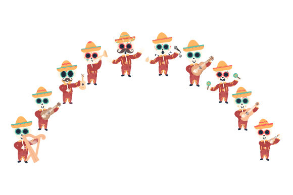 Skeleton Mariachi Band Mexico Craft Cut File By Creative Fabrica Crafts
