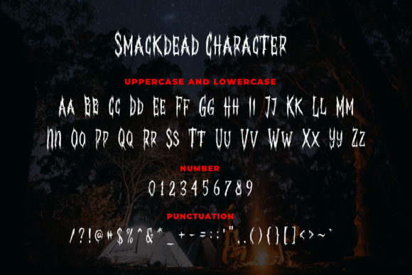 Print on Demand: Smackdead Blackletter Font By Blankids Studio - Image 3