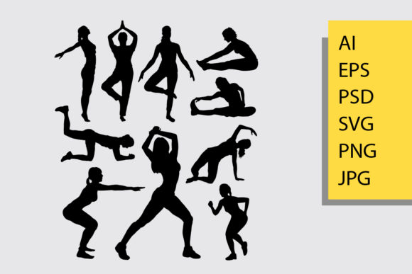 Sport Silhouette Graphic Illustrations By Cove703