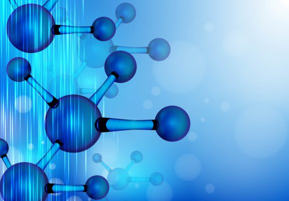 Print on Demand: Structure Molecule Graphic Backgrounds By ojosujono96