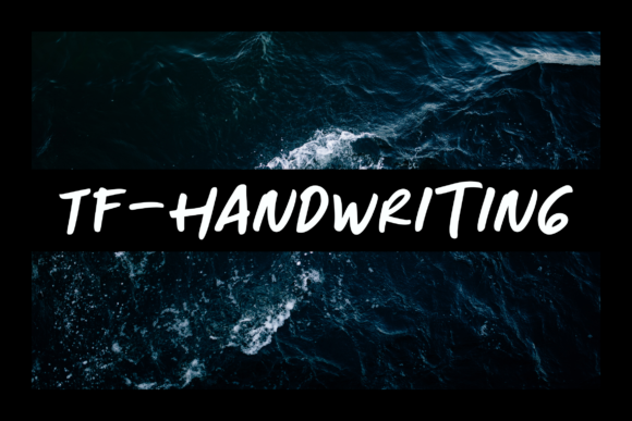 Print on Demand: TF Handwriting Script & Handwritten Font By Fontdation
