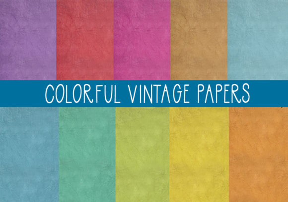 Print on Demand: The Colored Vintage Papers Graphic Textures By CapeAirForce