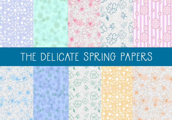 Print on Demand: The Delicate Spring Papers Graphic Patterns By CapeAirForce