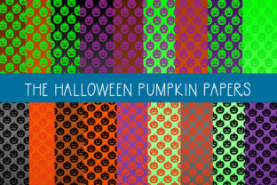 Download Free The Halloween Pumpkin Papers Graphic By Capeairforce Creative for Cricut Explore, Silhouette and other cutting machines.