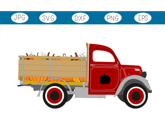 The Halloween Pumpkin Truck Graphic By Capeairforce Creative