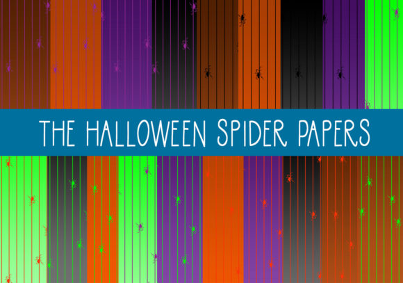 Print on Demand: The Halloween Spider Papers Graphic Patterns By CapeAirForce