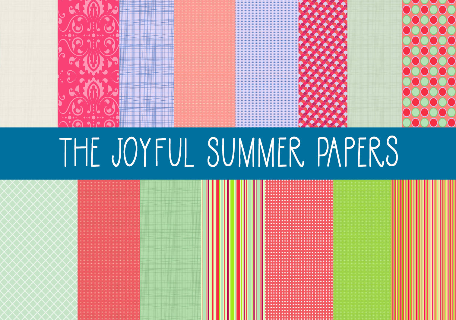 Download Free The Joyful Summer Papers Graphic By Capeairforce Creative Fabrica for Cricut Explore, Silhouette and other cutting machines.