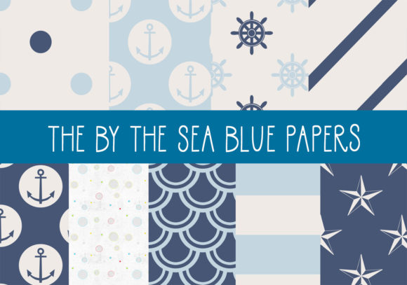 Print on Demand: The by the Sea Blue Papers Graphic Patterns By CapeAirForce
