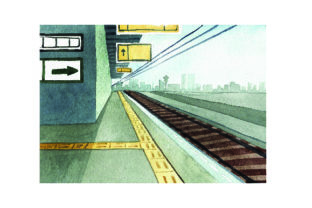 Train Station - Watercolor Style Craft Design By Creative Fabrica Crafts