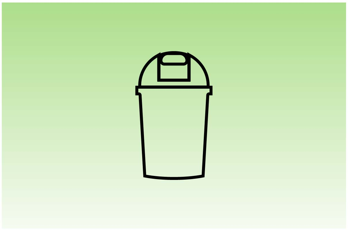 Download Free Trash Can Rubbish Bin Icon Graphic By Hoeda80 Creative Fabrica for Cricut Explore, Silhouette and other cutting machines.