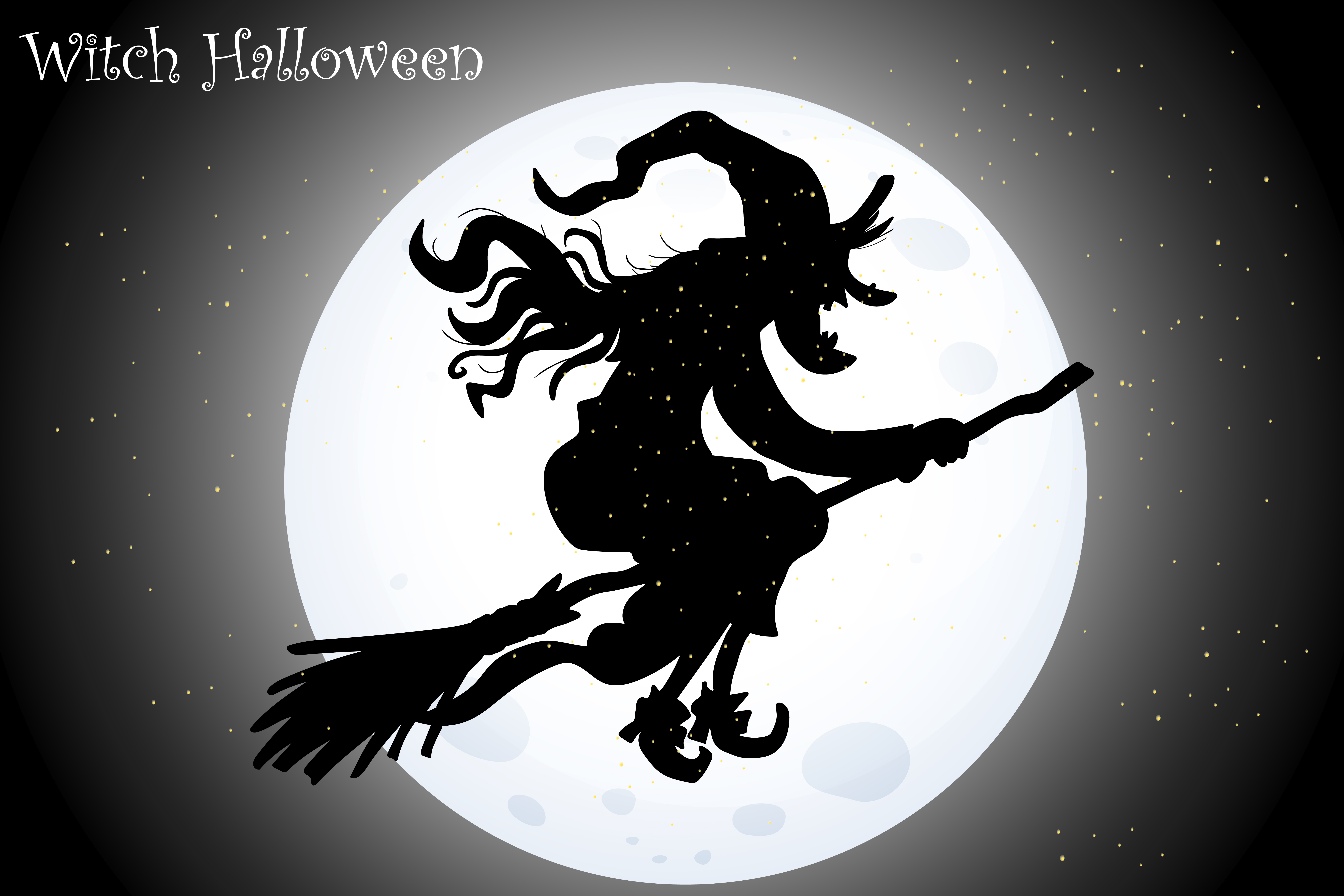 Download Free Witch Halloween Graphic By Raihan Kucluk Creative Fabrica for Cricut Explore, Silhouette and other cutting machines.
