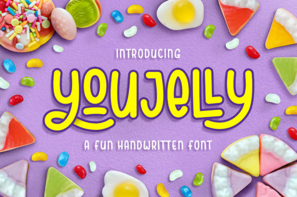 Print on Demand: Youjelly Script & Handwritten Font By collectypestudio