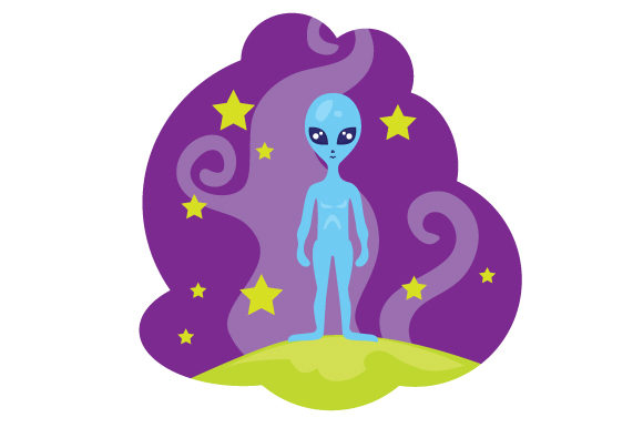 Alien with Big Eyes Designs & Drawings Craft Cut File By Creative Fabrica Crafts