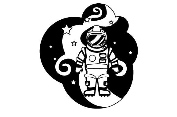 Astronaut Designs & Drawings Craft Cut File By Creative Fabrica Crafts - Image 2