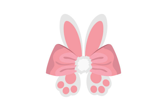 Download Free Bunny Hair Bow With Ears And Feet Archivos De Corte Svg Por for Cricut Explore, Silhouette and other cutting machines.