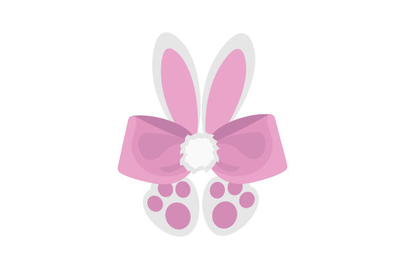 Bunny Hair Bow with Ears and Feet Beauty & Fashion Craft Cut File By Creative Fabrica Crafts - Image 1