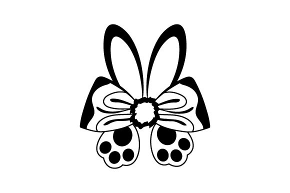 Download Free Bunny Hair Bow With Ears And Feet Svg Cut File By Creative SVG Cut Files