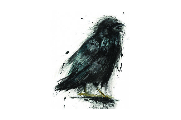 Download Free Crow Watercolor Svg Cut File By Creative Fabrica Crafts for Cricut Explore, Silhouette and other cutting machines.