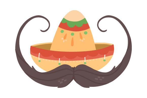 Download Free Mexican Hat With Moustache Svg Cut File By Creative Fabrica for Cricut Explore, Silhouette and other cutting machines.