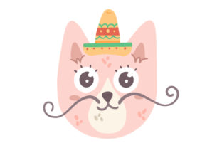 Pink Mexican Cat Craft Design By Creative Fabrica Crafts