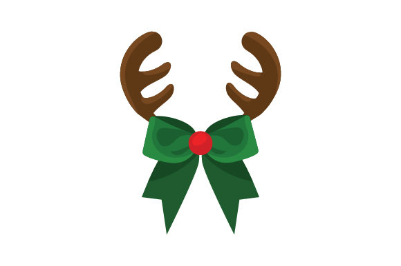 Reindeer Bow with Antlers Craft Design By Creative Fabrica Crafts