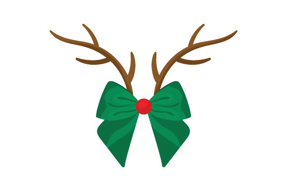 Download Free Reindeer Bow With Antlers Svg Cut File By Creative Fabrica SVG Cut Files