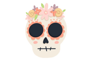 Skull with Flowers Craft Design By Creative Fabrica Crafts