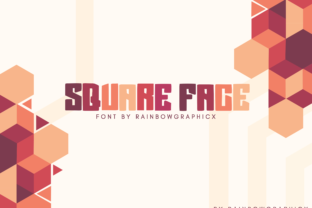 Square Face Font By RainbowGraphicx
