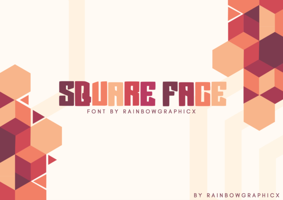 Square Face Display Font By RainbowGraphicx