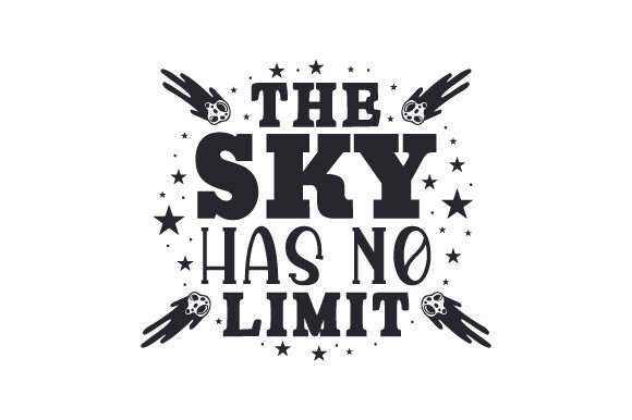 Download Free The Sky Has No Limit Svg Cut File By Creative Fabrica Crafts SVG Cut Files