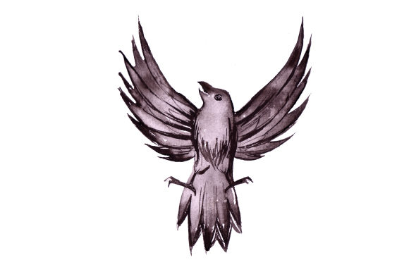 Download Free Crow In Watercolor Svg Cut File By Creative Fabrica Crafts for Cricut Explore, Silhouette and other cutting machines.