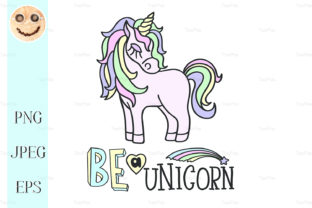 Pink Unicorn, Be a Unicorn Lettering Graphic By TasiPas