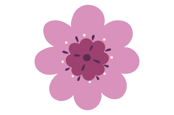 Download Free Purple Flower Svg Cut File By Creative Fabrica Crafts Creative for Cricut Explore, Silhouette and other cutting machines.