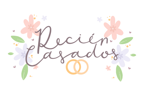 Download Free Recien Casados Svg Cut File By Creative Fabrica Crafts for Cricut Explore, Silhouette and other cutting machines.