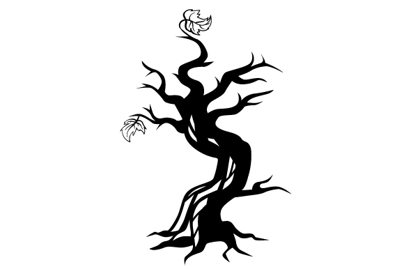 Download Free Tree In Gothic Style Black And White Svg Cut File By Creative for Cricut Explore, Silhouette and other cutting machines.