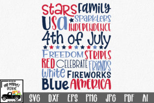 4th of July Subway Art Graphic By oldmarketdesigns